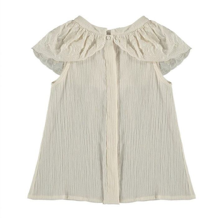 Belle chiara Lace ruffle blouse(Be)