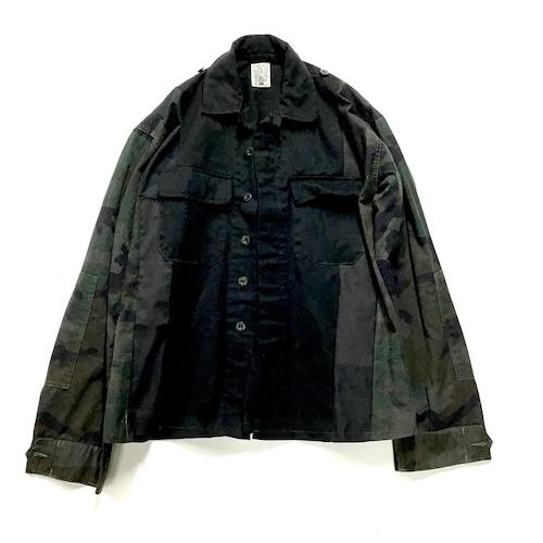 【Lsize】 REMAKE BLACK  MILITARY SHIRTS ブラックミリタリーシャツ【Shirts54】