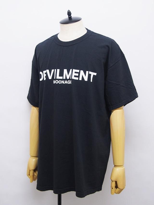 Moonage Devilment (ムーンエイジデビルメント) F/PRINT OVER T-shirt / BLACK mcs-0617-1