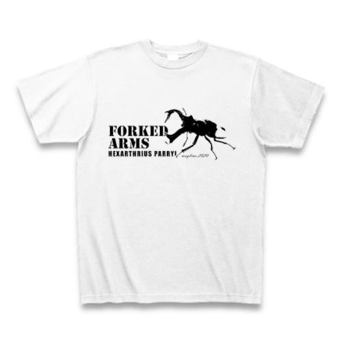 セアカフタマタクワガタ Tシャツ -maylime- オリジナルデザイン ホワイト