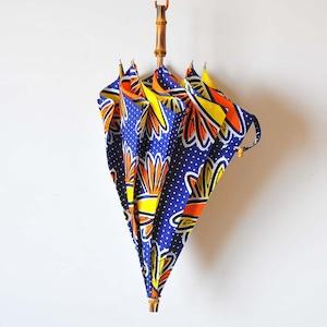 Bon Bon Store アフリカンバティック長傘(竹 002)