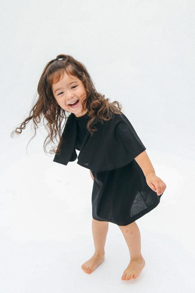 CAPE T-DRESS BLACK