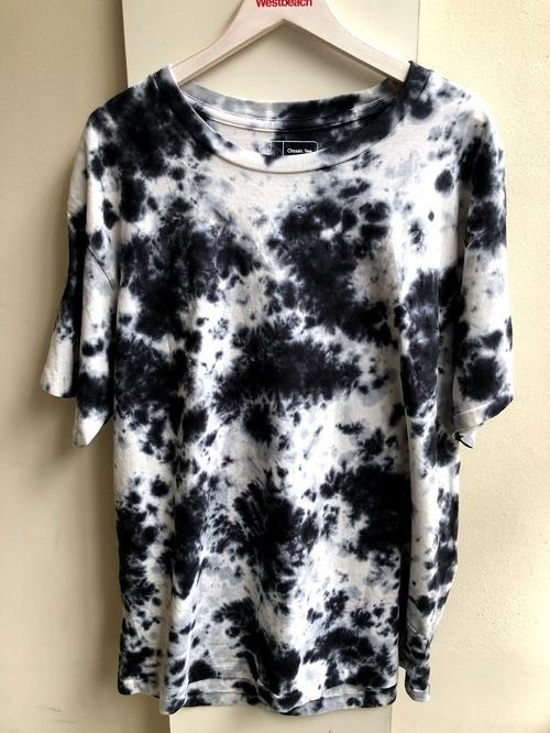 WESTBEACH ORGANIC COTTON TEE -Tie Dye  Black Marble-