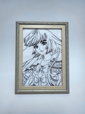 キャラ縫い額装刺繍 王女シャッフル「ヴェルサイユバロックを身に纏う王女」