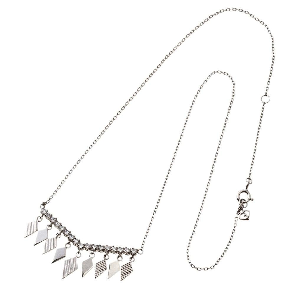 Rombic V bar necklace ロンビックブイバーネックレス ELP0009S