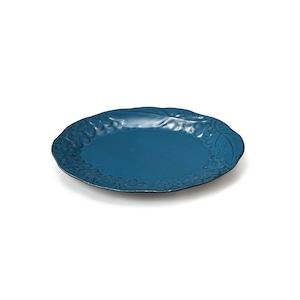 aito製作所 「リアン Lien」プレート 皿 約18×14cm S ブルー 美濃焼 267839