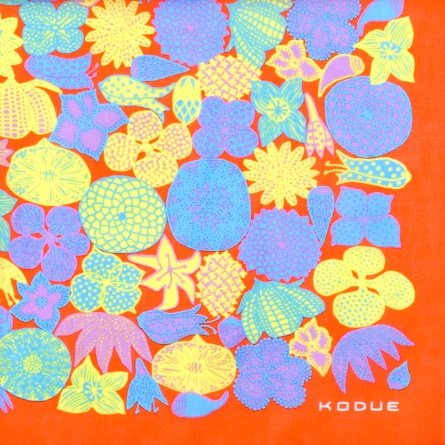 クレイジーフラワー/ オレンジ【ひびのこづえ】 ハンカチ