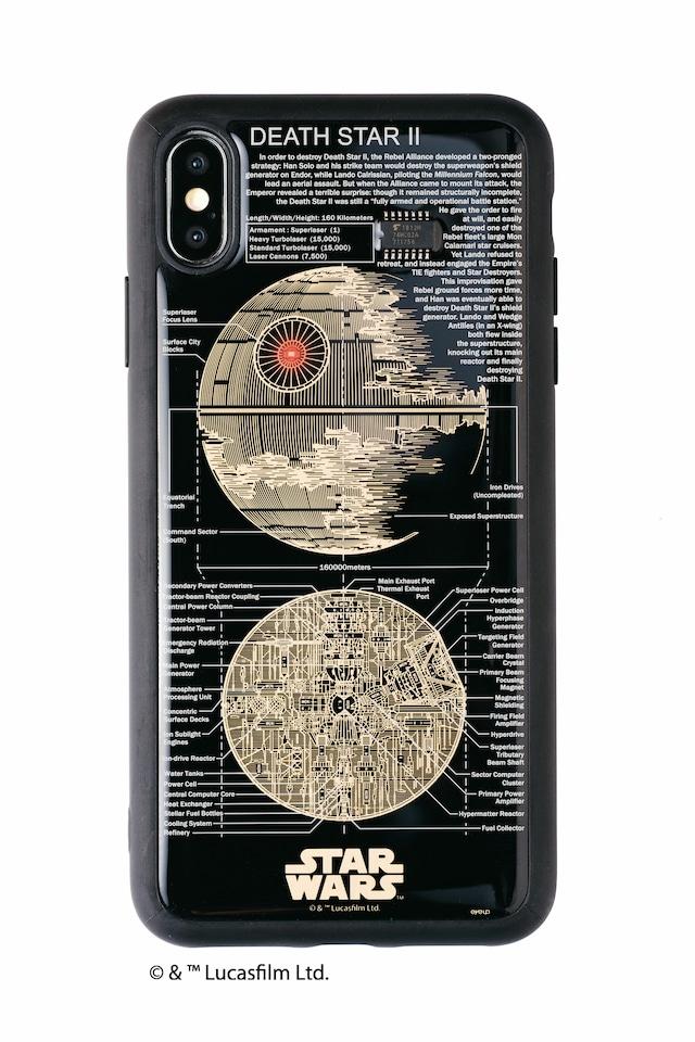 FLASH DEATH STAR 基板アート iPhone XS Maxケース 黒【東京回路線図A5クリアファイルをプレゼント】