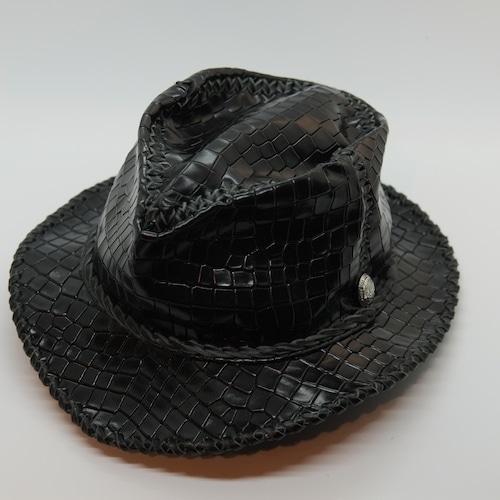 シルバーロゴコンチョ付 Wild Leather Hat 【 Black The Thing 】・予約受付販売