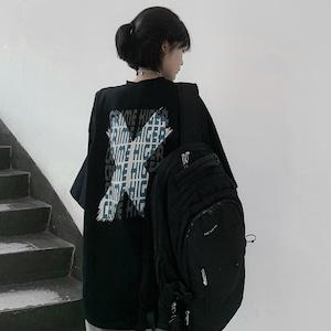 【トップス】原宿プリント配色Tシャツ46859276