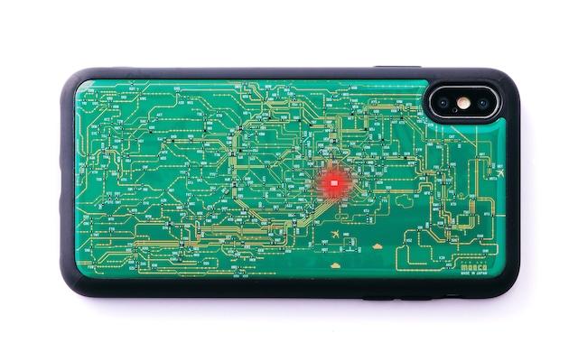 FLASH 東京回路線図 iPhone XS Maxケース 緑【東京回路線図A5クリアファイルをプレゼント】