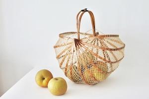vintage bamboo folding basket / 竹の折り畳みかご