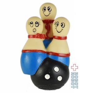 HARTZ MOUNTAIN ボーリング ピン 3姉妹 ラバードール ソフビ人形