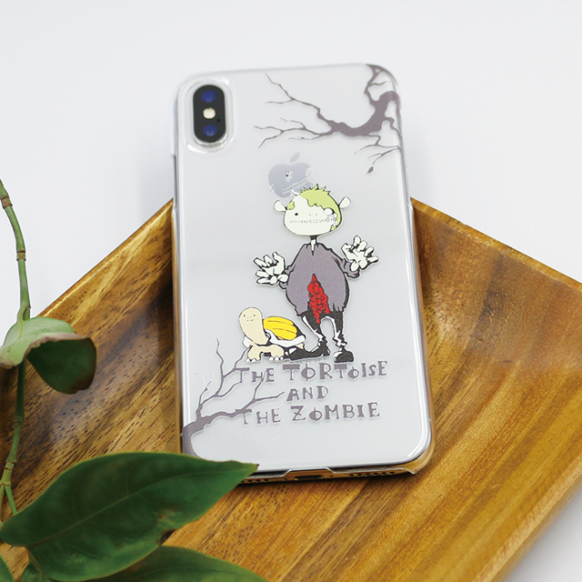 ゾンビとカメ スマホケース(iPhone8用)