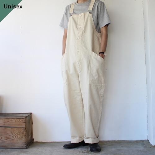 【ラスト1点】HARVESTY ハーベスティ CHINO CLOTH OVERALLS チノクロスオーバーオール A12008 アイボリー