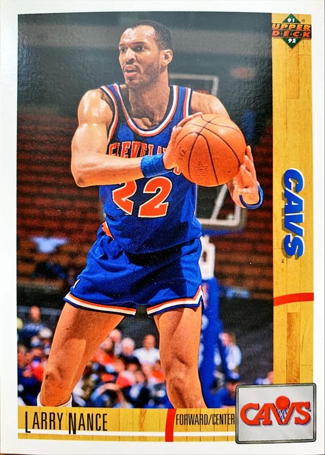NBAカード 91-92UPPERDECK Larry Nance #223 CAVS