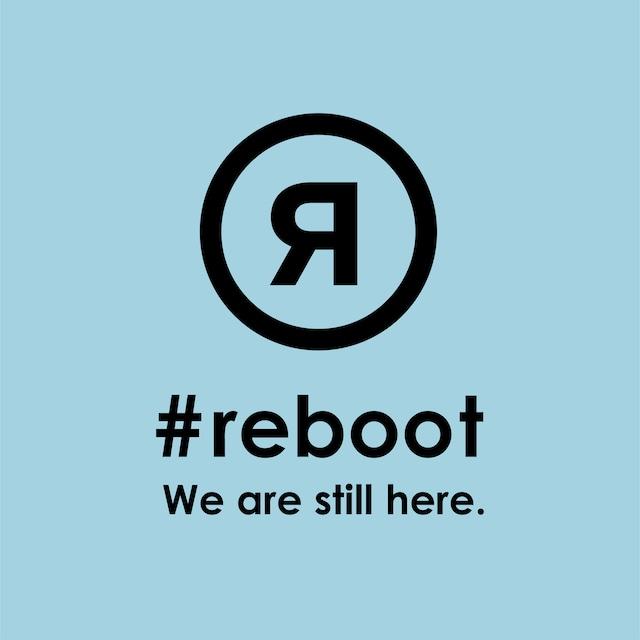 #rebootステッカー|ブルー