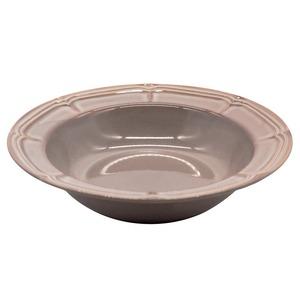 Koyo ラフィネ リム スープ ボウル 皿 約21.5cm ストームグレー 15973012