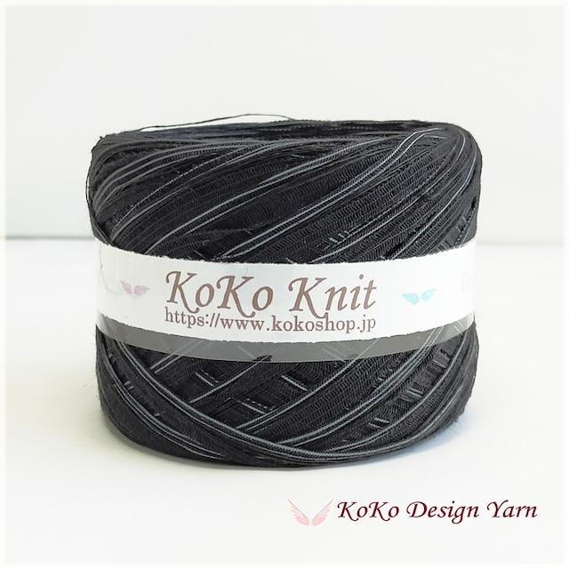 §koko§ 黒龍  1玉59g以上  テープヤーン 麻100%インディゴ染め 引き揃え糸