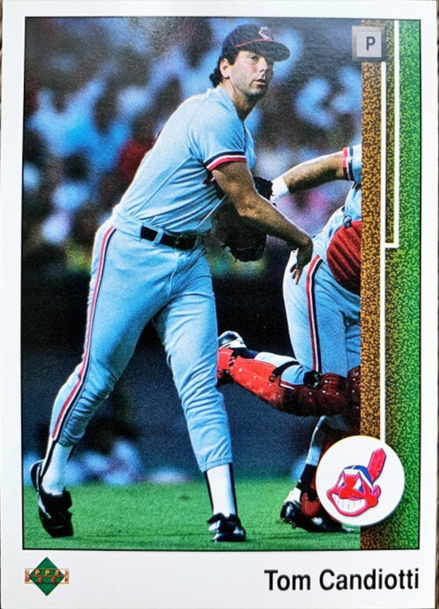 MLBカード 89UPPERDECK Tom Candiotti #470 INDIANS