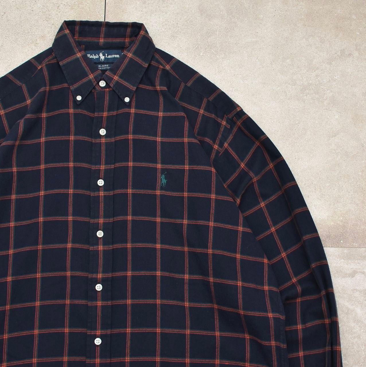 90's Ralph Lauren check flannel BD shirt