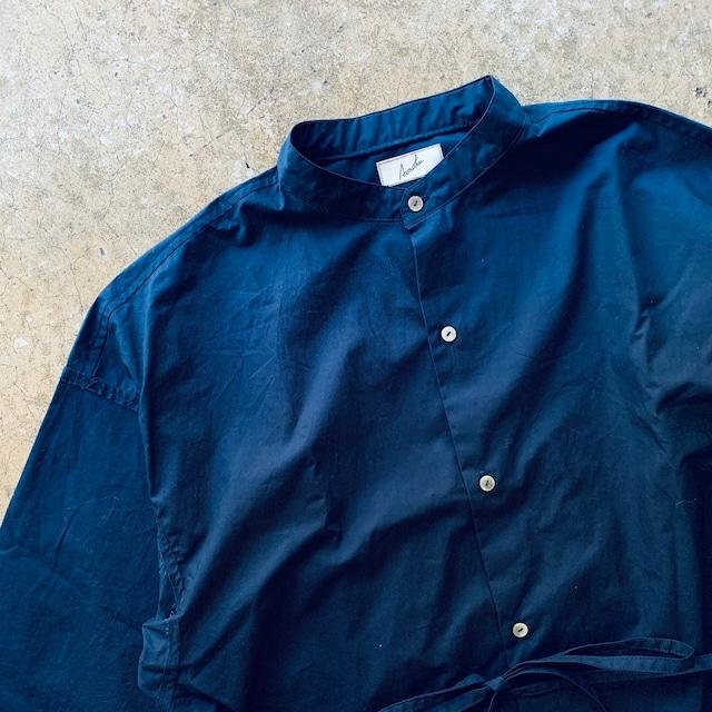 Typewriter Long Shirt  /Navy