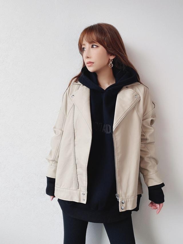 mocoa'sオーバーレザージャケット ¥9,300+tax