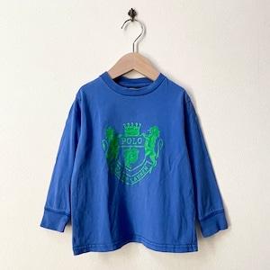 キッズ古着 ポロラルフローレン Polo Ralph Lauren プリント ロングTシャツ アメリカ古着 子供服