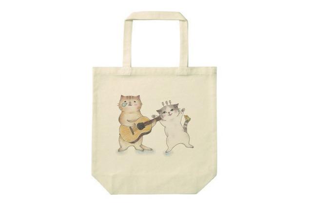 ギター猫のトートバッグ(2匹)