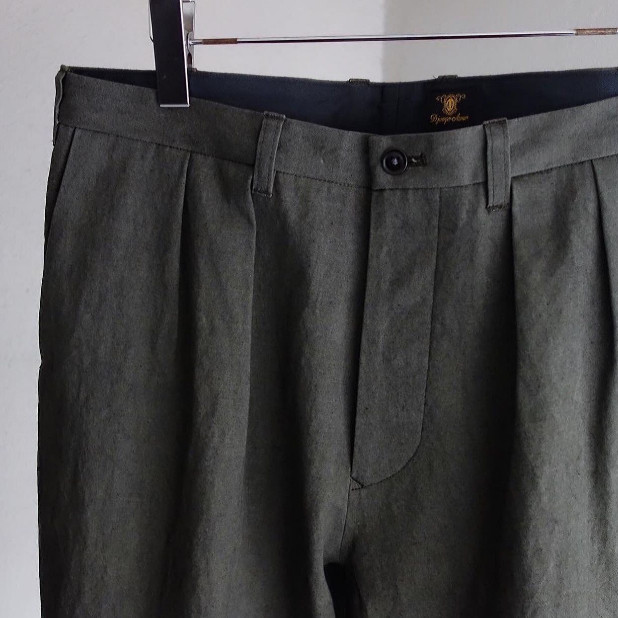 classic twotuck frenchtrousers / amishgrey