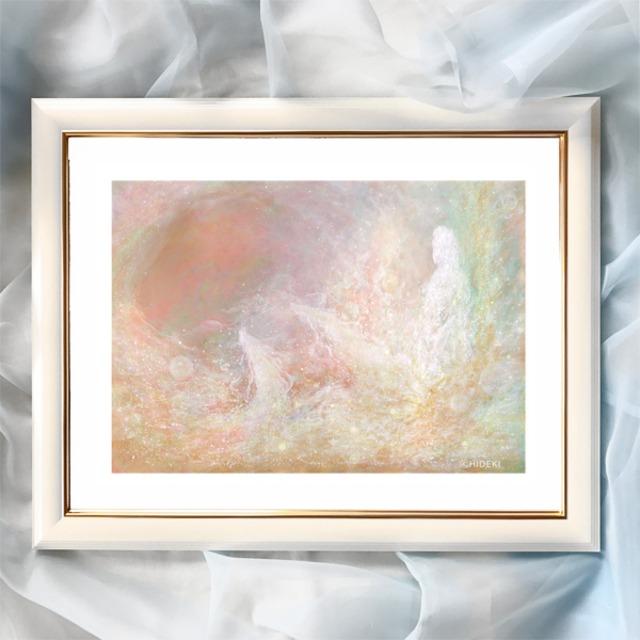 『遍く広がる愛』【神様の絵】太子サイズ 額入 ヒーリングアート