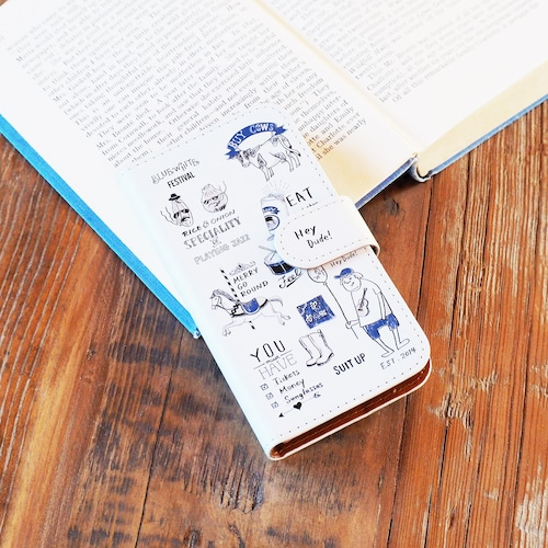 FUDGE掲載 フェスティバル 手帳型スマホケース