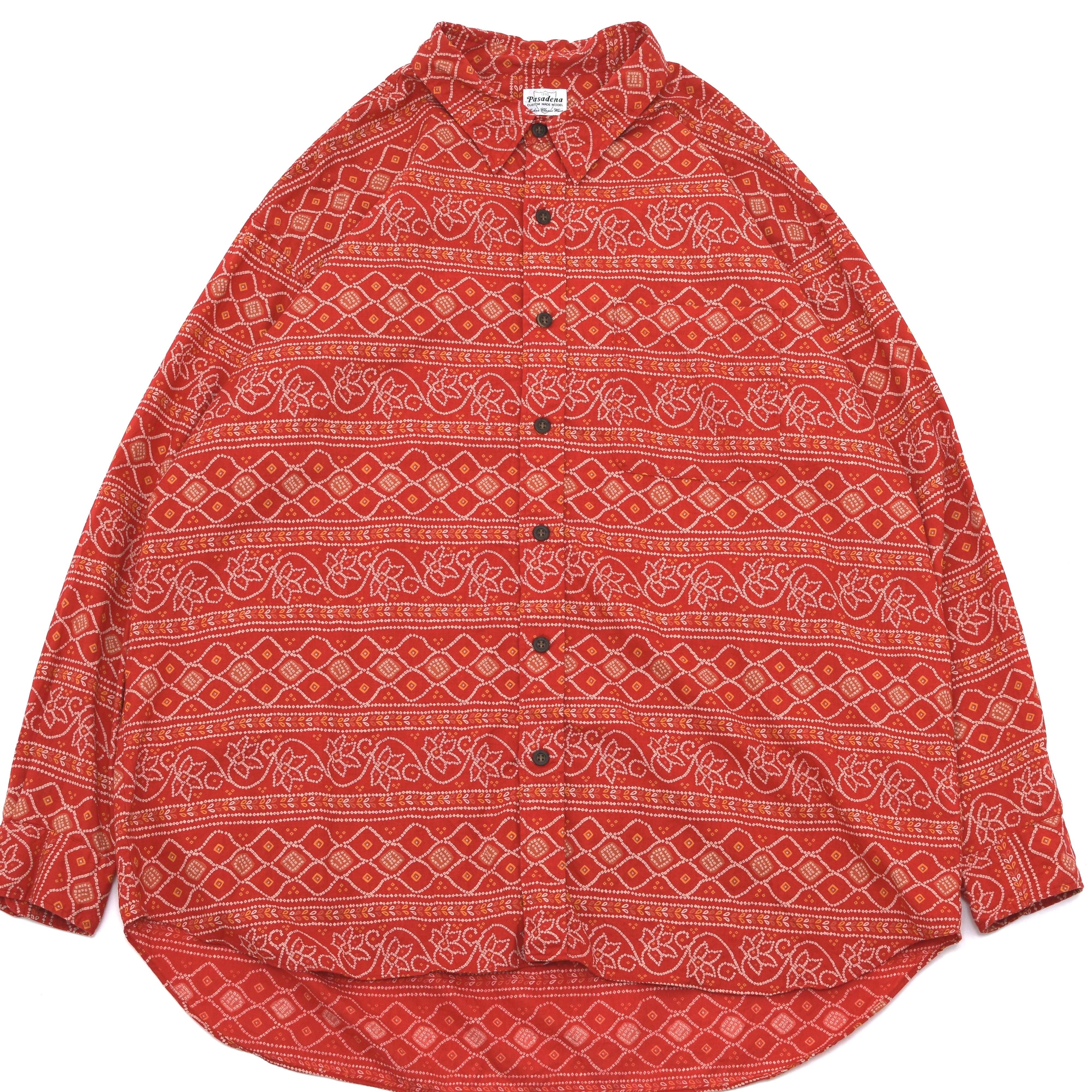 Retro ethnicflower stripe pattern shirt