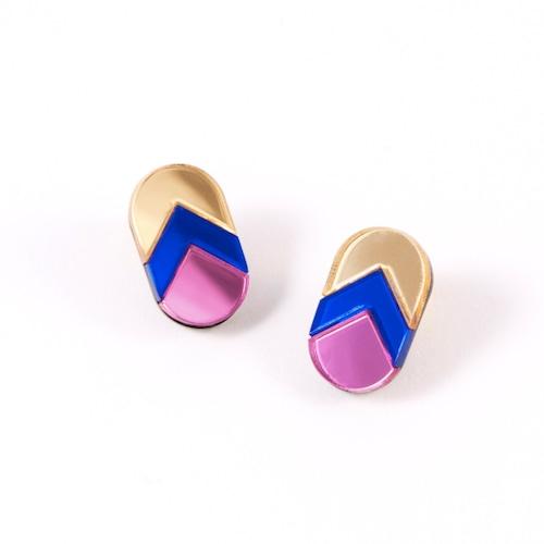 "MYSTIC FORMS ""Geometric Perspex Statement Mini Earrings"" FORM 044 ピアス"
