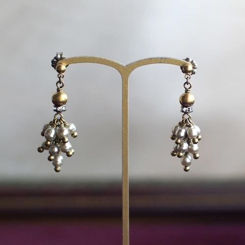 カーテンコール / 耳飾り(GlassPearl silver房)