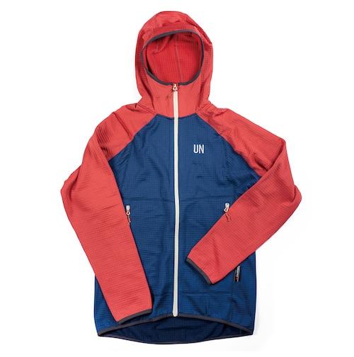 UN2100 Light weight fleece hoody / Navy : Red