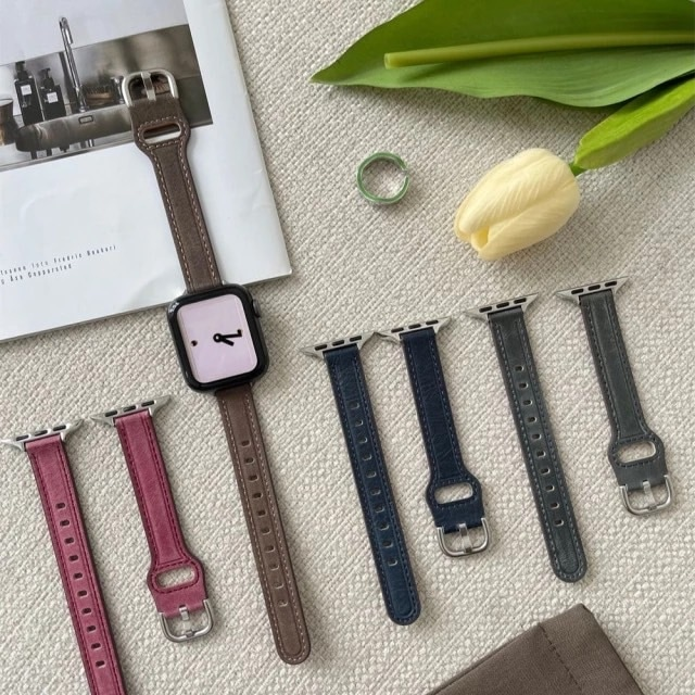 4color leather apple watch belt