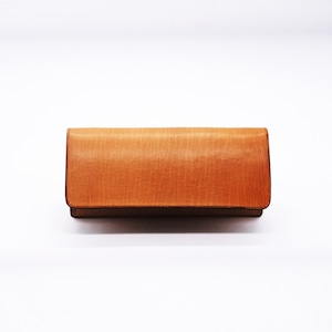 Tri-fold long wallet tanned special oil