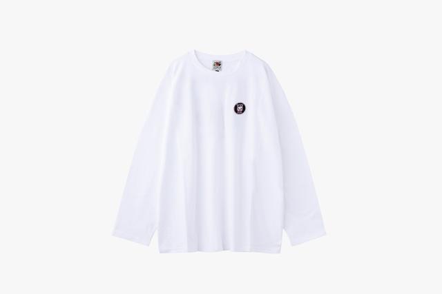 ロングTシャツ(ワッペンロゴ)