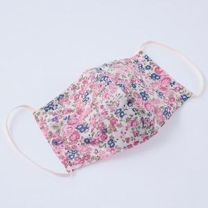 【日本製】何度も洗って使える 立体布マスク ピンク花柄