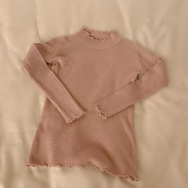 ベーシックリブニット(Pink)