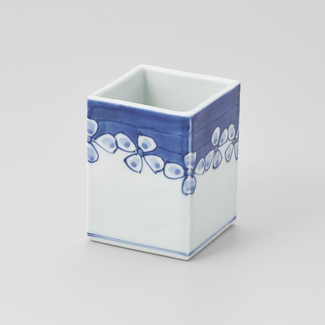 """【青花】""""Classic"""" 角型箸立(花つなぎ)"""