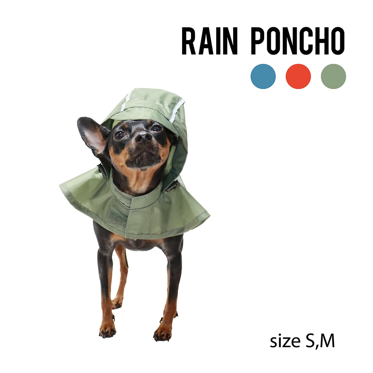 RAIN PONCHO(S,M) レインポンチョ