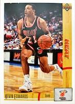 NBAカード 91-92UPPERDECK Kevin Edwards #141 HEAT