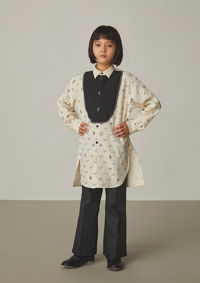 【21AW】GRIS ( グリ )Busom Long Shirt[S / M]Ecru シャツ