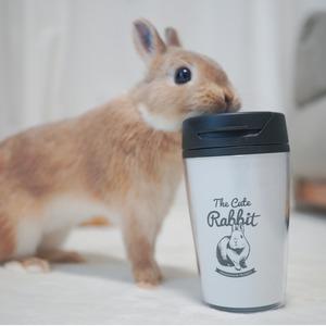 うさぎのカフェ風タンブラー