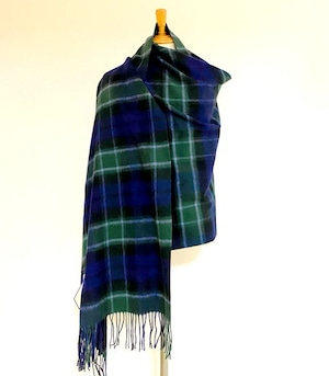 【TWEEDMILL】Lambswool Blanket Stole with Pin(Knee Rug) Tartan Graham of Mentieth