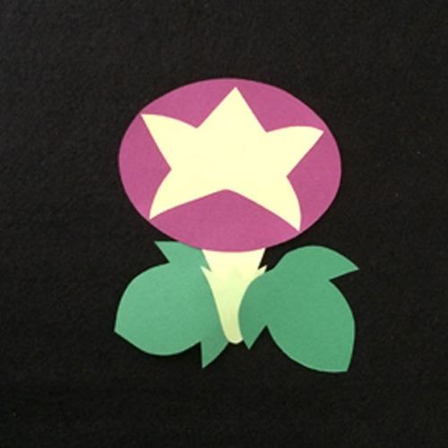 あさがお(紫)の壁面装飾