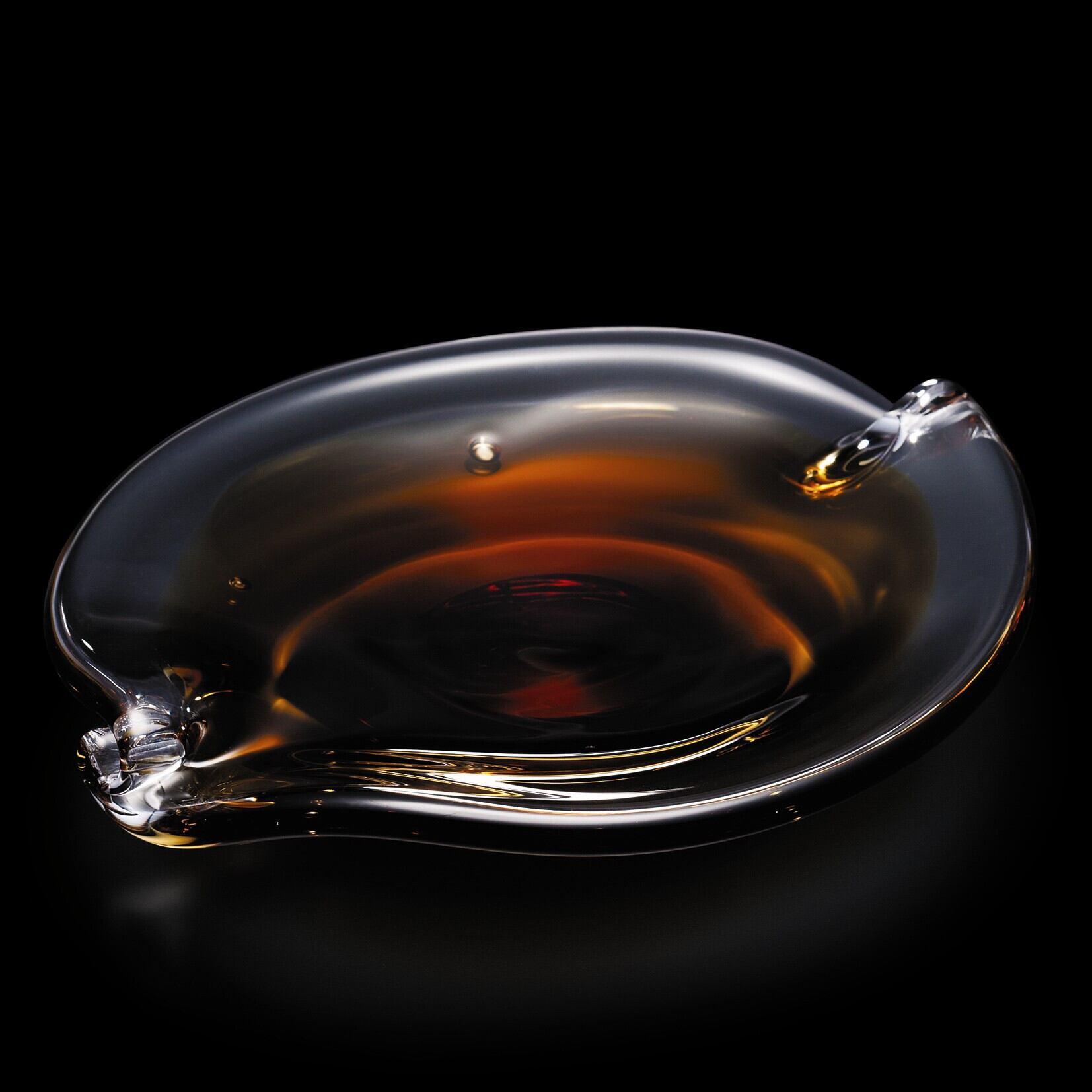 oval plate(amber)葉KONOHA