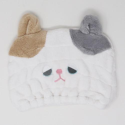 猫ヘアキャップ(吸水速乾タオルゆず)